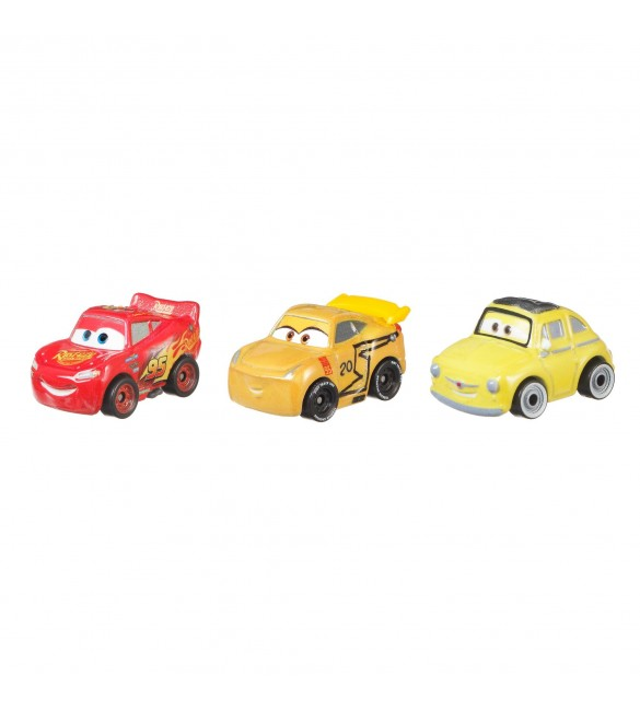 """Тачки 3"" МакКвин, МакКвин Круз Рамирез и Луиджи набор из 3-х мини машинок"